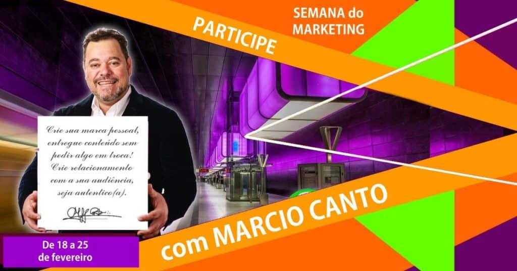 semana do marketing com Márcio Canto