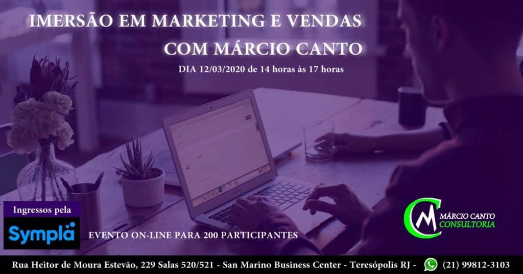 imersão em marketing e vendas on-line com Márcio Canto