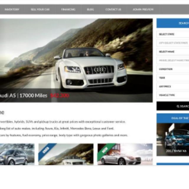 Sites para agências de veículos